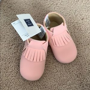 Baby pink shoes
